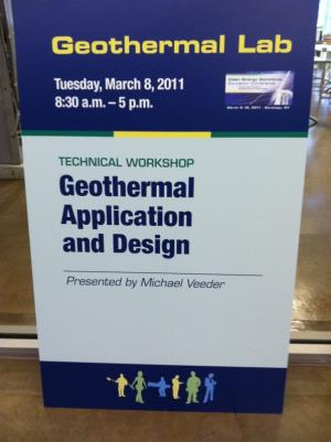 We have a Geothermal technical and design specialist on staff