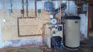 New boiler, radiators, & piping installation