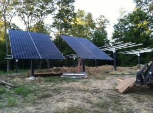 Setting the panels on a 20.4 KW solar system
