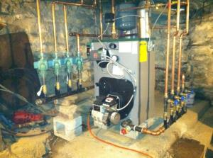 Peerless oil fired boiler installation