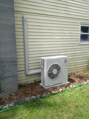 Mitsubishi ductless split system