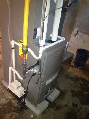 Lennox natural gas fired furnace