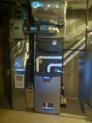 Lennox LP fired furnace