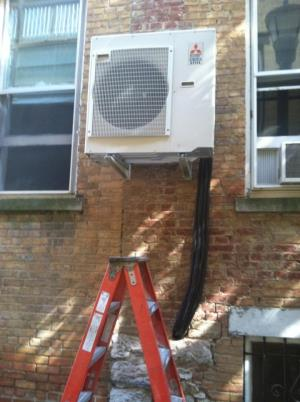 Wall mounted ductless split system