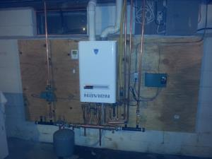 Navien single zone combination boiler