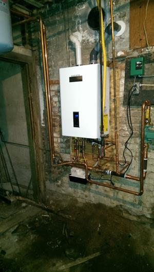 Single zone Navien combination boiler